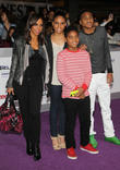 Holly Robinson Peete, Robinson Peete, Ryan Elizabeth Peete, Rodney Jr. Peete, Regal Cinemas LA Live Stadium