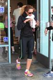 Mel B juices up after her workout