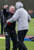 Rangers manager Ally McCoist and James Arthur