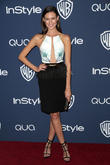 Odette Annable, Oasis Courtyard at the Beverly Hilton Hotel, Golden Globe Awards, Beverly Hilton Hotel