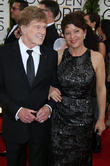 Robert Redford and wife Sibylle Szaggars