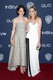 Michelle Dockery, Laura Carmichael, Oasis Courtyard at the Beverly Hilton Hotel, Golden Globe Awards, Beverly Hilton Hotel