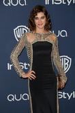 Lizzy Caplan, Oasis Courtyard at the Beverly Hilton Hotel, Golden Globe Awards, Beverly Hilton Hotel