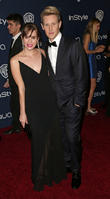 Christa B. Allen, Gabriel Mann, Oasis Courtyard at the Beverly Hilton Hotel, Golden Globe Awards, Beverly Hilton Hotel