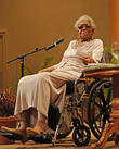 Maya Angelou speaks at Congregation B'nai Israel