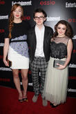 Sophie Turner, Isaac Hempstead-wright and Maisie Williams