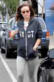 Pregnant Olivia Wilde is all smiles post-workout