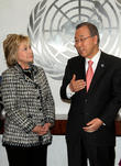 Hillary Rodham Clinton and Un Secretary General Ban Ki Moon