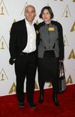 Joshua Oppenheimer, producer Signe Byrge Sorensen, Beverly Hilton Hotel, Oscars