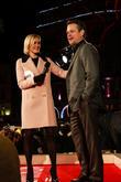 Matt Damon and Jenni Falconer