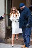 Mariah Carey on her way to CBS Radio Studios