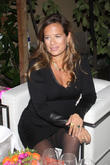 Jade Jagger at the opening of the new Gherardini boutique in Milan