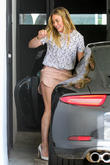 Hillary Duff pulls into a tight parking spot