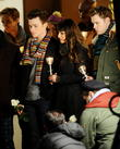 Lea Michele, Chord Overstreet, Chris Colfer