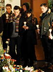 Lea Michele, Chris Colfer and Chord Overstreet