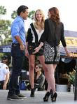 Anne Vyalitsyna, Lydia Hearst and Mario Lopez