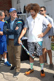 Kevin Spacey and RedFoo of LMFAO