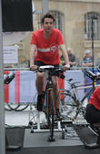 Nick Grimshaw is joined by close friends Daisy Lowe and Pixie Geldof as he attempts a 12 hour cycle outside the BBC Broadcasting House