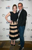 Elizabeth Henstridge and Clark Gregg
