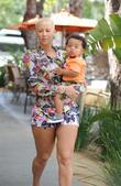 Amber Rose and her son Sebastian