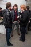 Michael Fassbender, Luke Evans and Ed Sheeran