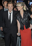 Johnny Hallyday and Leaticia Hallyday