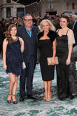 Ray, Elaine Winstone with daughters Ellie and Lois