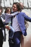 Orlando Bloom and Flynn Bloom