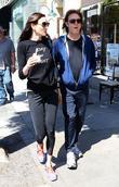 Paul McCartney walking with wife Nancy