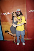 Kari Wuhrer and Judah Friedlander