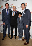 Matt Bomer, Willie Garson, Nathen Garson and Tim Dekay