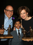 Willie Garson, Nathen Garson and Anne Sweeney