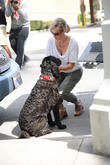 Jennie Garth with her dog