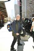 Peter Gabriel leaving his hotel