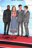 Jamie Foxx, Emma Stone, Andrew Garfield and Dane DeHaan