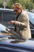 Johnny Hallyday Out And About