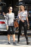 Cara Santana and a friend leaving Alfred Cafe on Melrose Place in West Hollywood