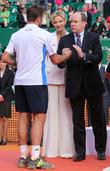 Princess Charlene Of Monaco, Prince Albert Ii Of Monaco and Stanislas Wawrinka