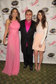 Elizabeth Hurley, Elton John and Sara Bareilles