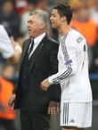 Cristiano Ronaldo and Carlos Ancelotti