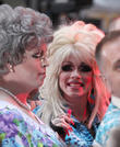 Dolly Parton and Fan in Drag