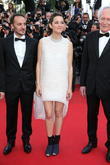 ctors Fabrizio Rongione (l-r), Marion Cotillard, director Luc, Cannes Film Festival
