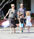Tobey Maguire, Jennifer Mayer, Ruby Maguire and Otis Maguire
