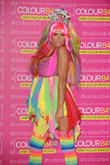 Katie Price attends a photocall for ColourB4