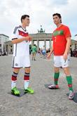 Mesut Oezil and Cristiano Ronaldo