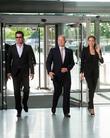 Brad Pitt, William Hague and Angelina Jolie