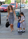 Myleene Klass, Ava Bailey Quinn and Hero Harper Quinn