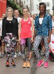 Ashley James, Victoria Pendleton, AJ Odudu, Fitness First, Tottenham Court Road, London