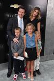 (L-R) Brendan Wahlberg, Mark Wahlberg, Ella Rae Wahlberg, Rhea Durham, Michael Wahlberg, Ziegfeld Theatre