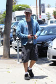 Matt Damon spotted leaving a gym on Melrose in his Tesla